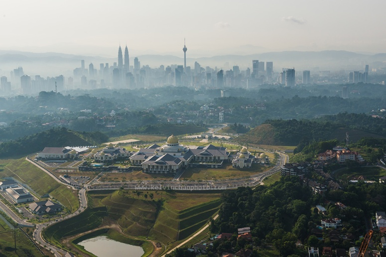The Palace with KL skyline in background