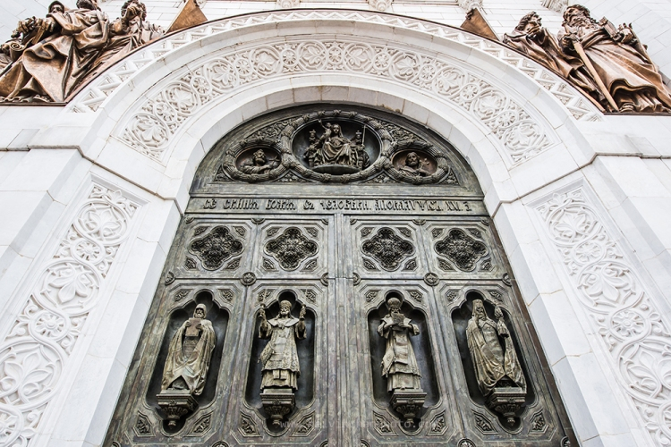 door of Cathedral of Christ the Savior
