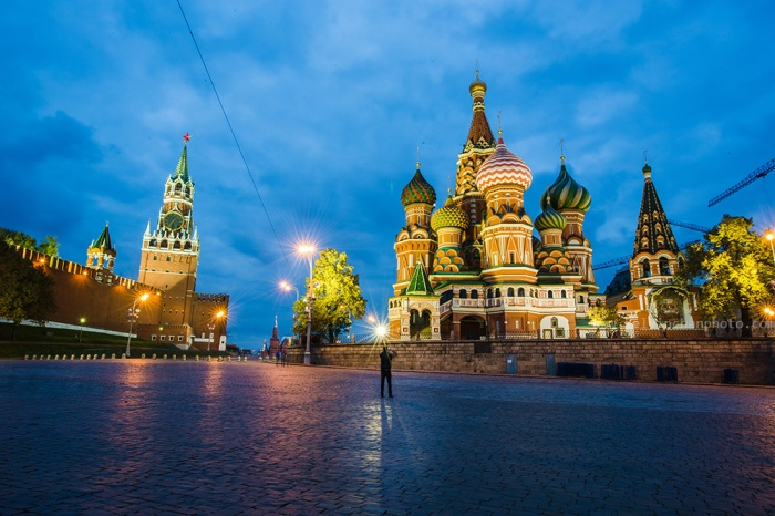 Saint Basil's Cathedral at blue hour