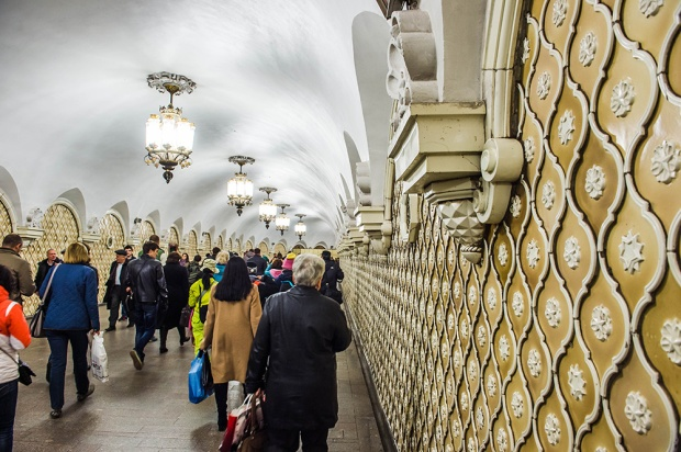 inside of moscow metro