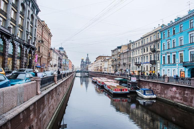 water way & building of Saint Petersburg