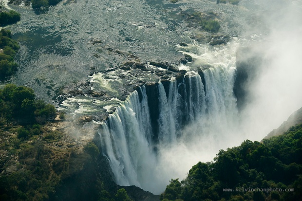 Victoria Falls from helicopter view