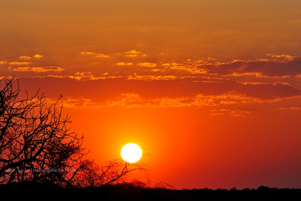 sunset at Zimbabwe