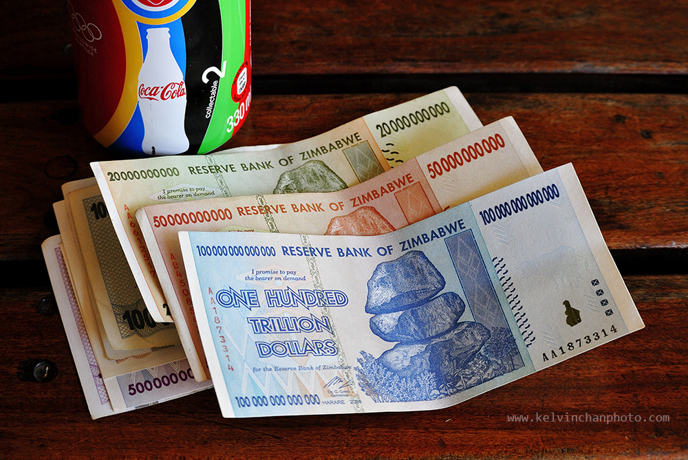 zimbabwe currency as souvenir omly