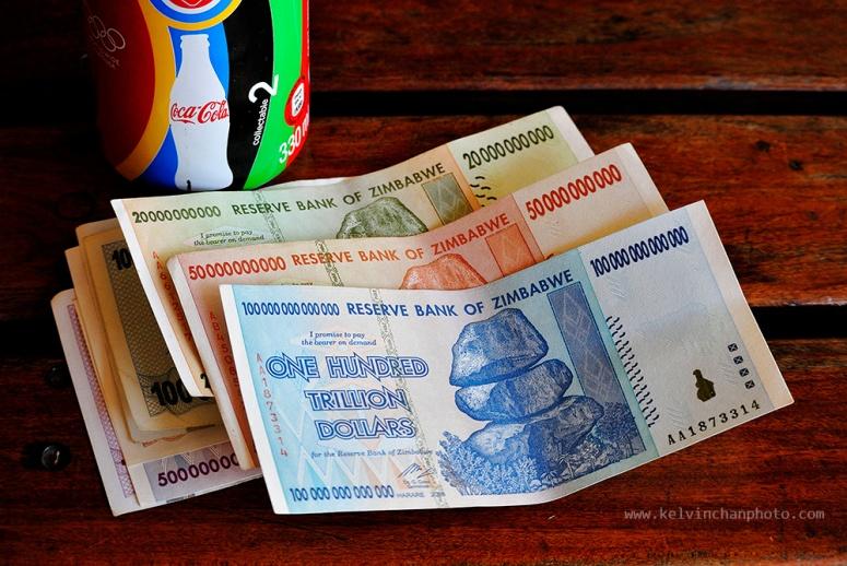 zimbabwe currency as souvenir omly