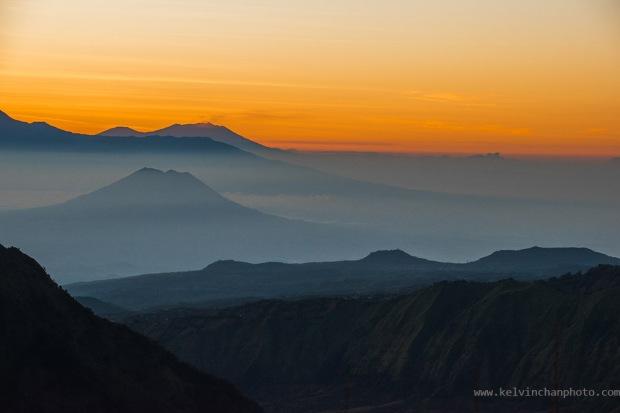 Dawn over Bromo Tengger Semeru Caldera