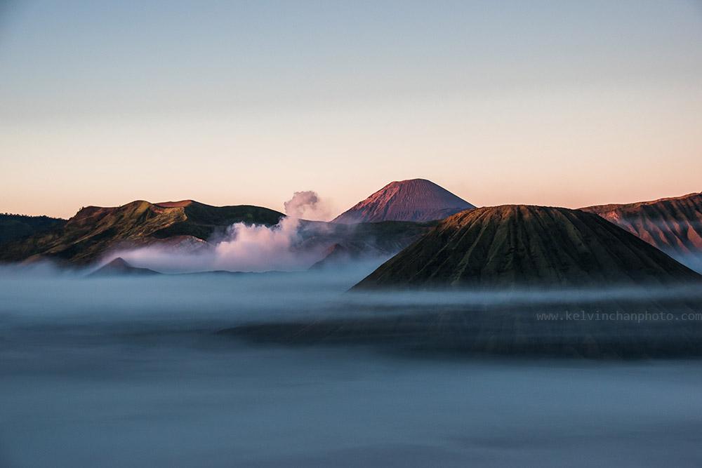 morning fog at Bromo Tengger Semeru Caldera