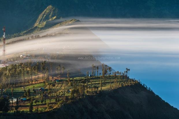 morning fog over Mount Bromo