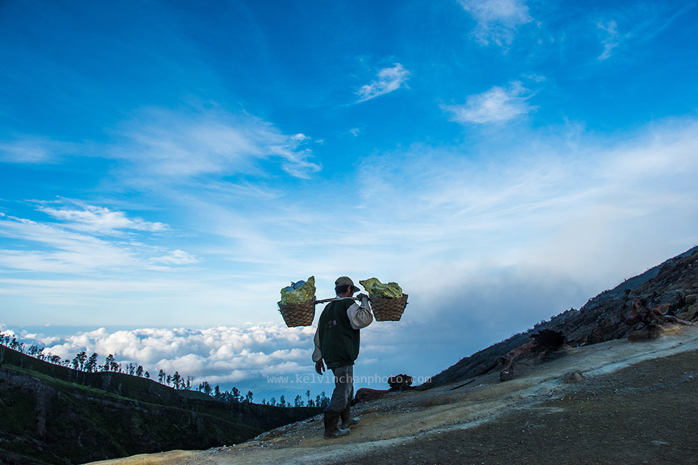 a spectacular view of Ijen.