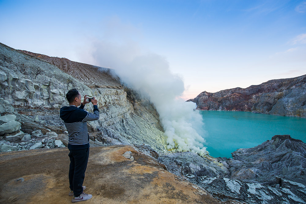 early morning view of  Ijen