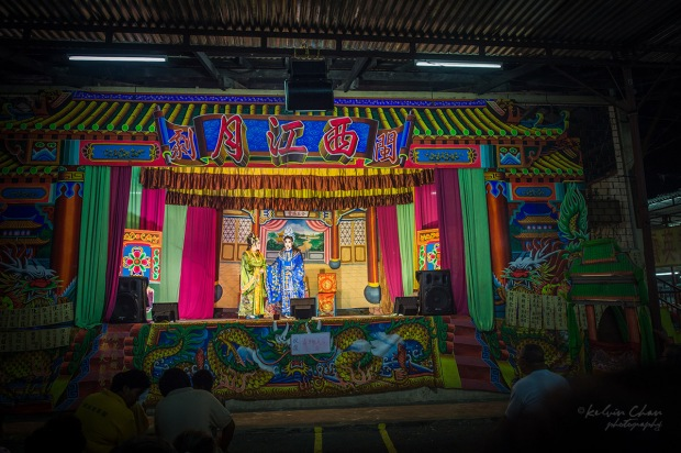 opera show at nine emperor god temple festival