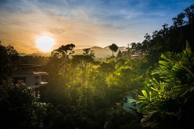 sunrise at tanah rimba