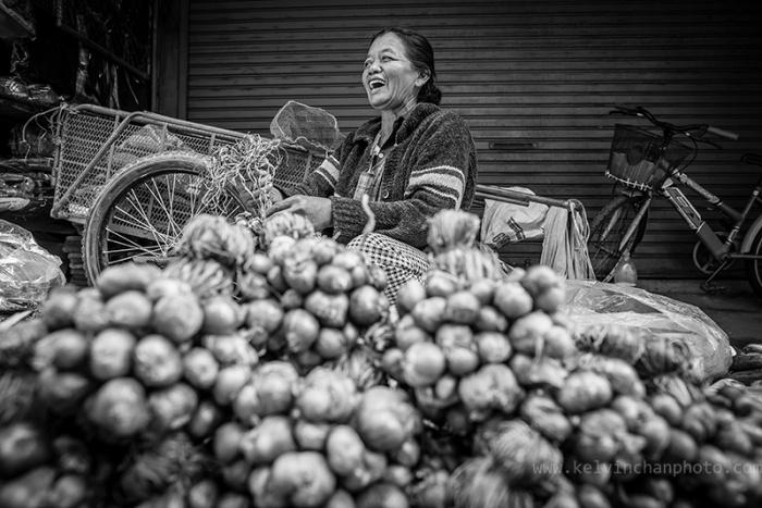 Street vendor in Si-Satchanala town
