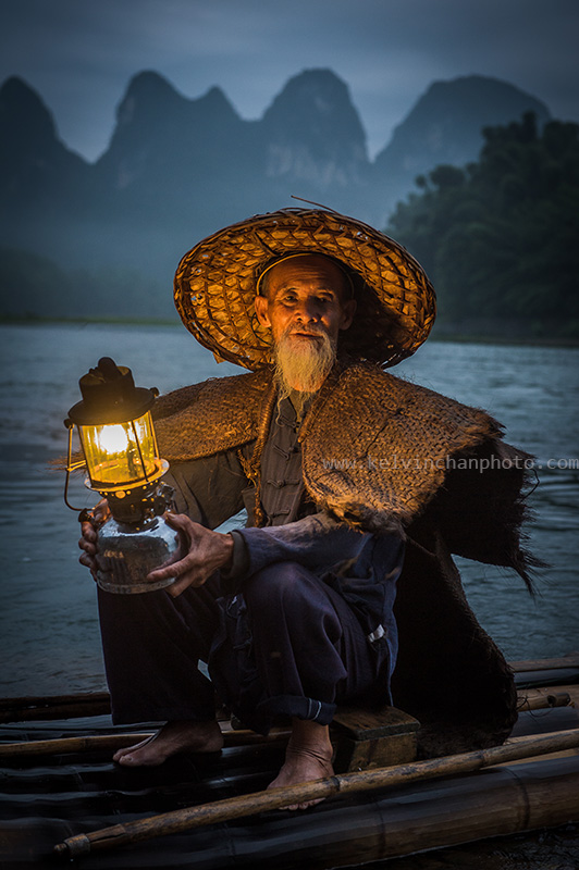 Fisherman at Li River, Guilin