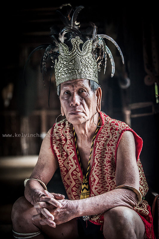 Portrait of a Orang Ulu of Sarawak