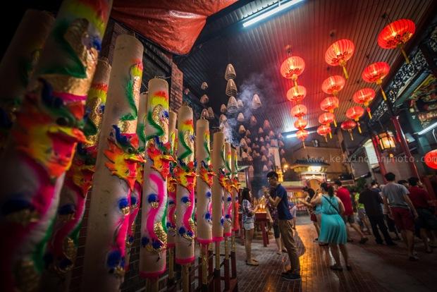 Chinese New Year at Si Yeh Temple at KL China town