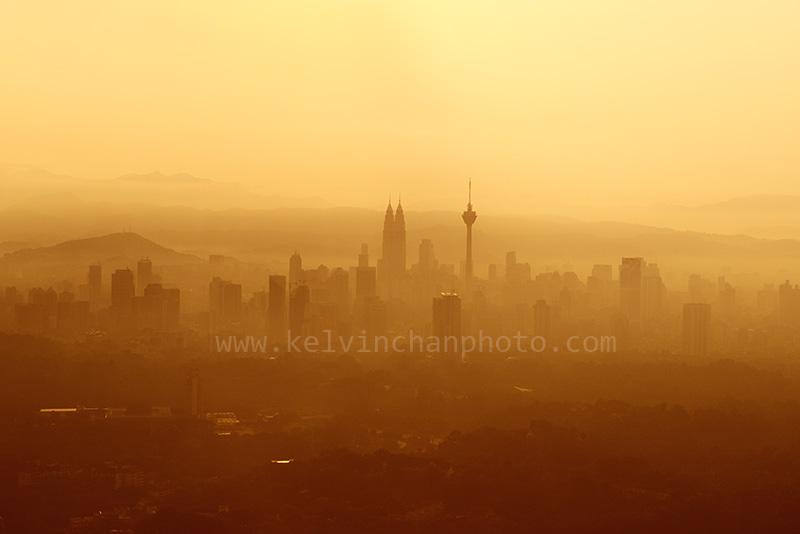 KL city skyline during sunrise