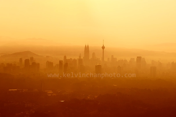 KL city skyline during sunrise