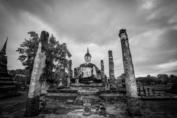 Wat Mahathat Temple in Sukhothai Historical Park, Thailand