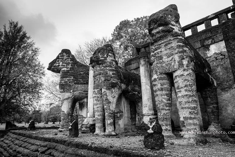 Wat Chang Lom in Si Satchanalai Historical Park, Thailand