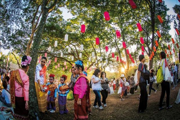 Picnic at Yee peng sky lantern festival