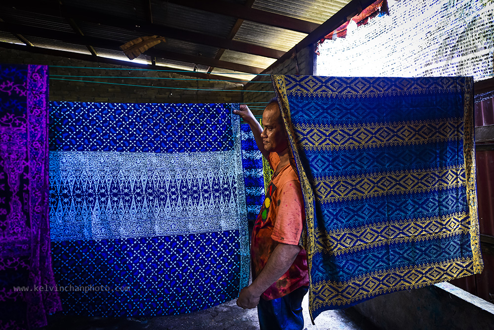 Batik pritning in Kuala Terengganu, Malaysia