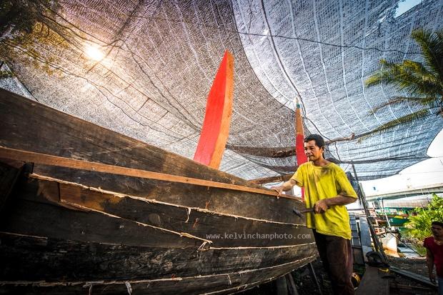boat making in Kuala Lumpur Terengganu, Malaysia
