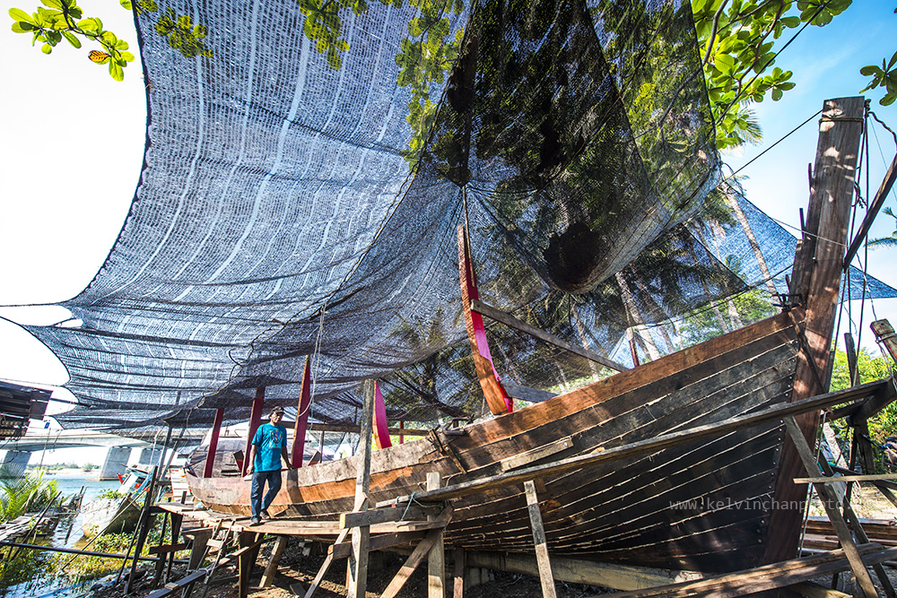 boat making in Terengganu, Malaysia