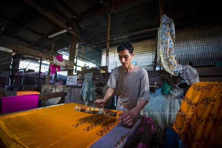 batik printing at Kuala Terengganu, Malaysia