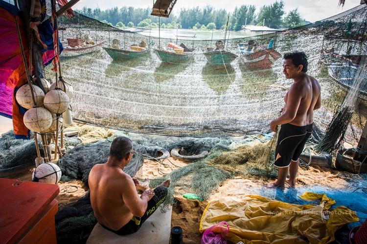 mending fihsing net