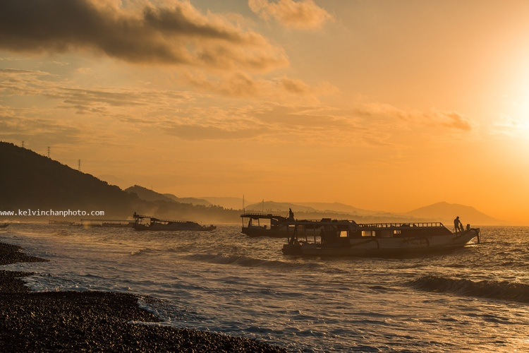 Sunrise at Kusamba,