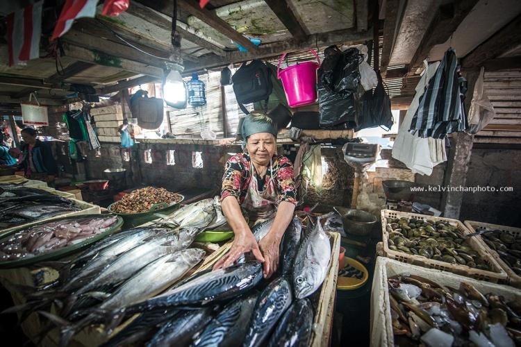 fish market at Jimbaran