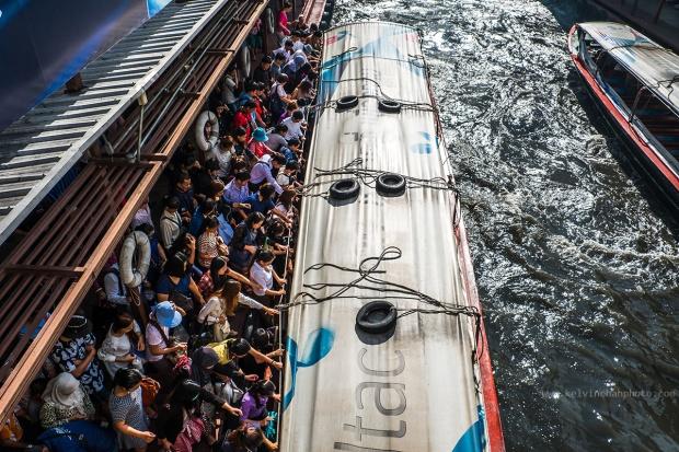 Mornign rush hour in Bangkok city