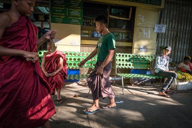 Yangon street scene